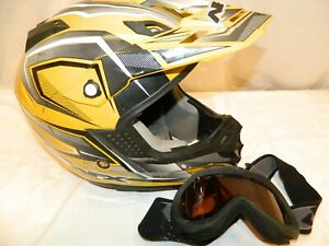 AFX ADULT FX-19 Yellow Vibe MX ATV Motorcycle Helmet Motocross size S 56-57cm