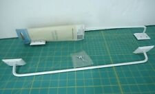 """Vintage Style Towel Rack Bar Wall Mount White Metal Made in Usa 18"""" (2) Pair"""