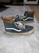 Vans off the wall skate board high top Insulated sneakers Us mens 9 Blue Leather