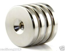 1PC N52 Countersunk Ring Magnets Disc 50mm x 5mm Hole 6mm Rare Earth Neodymium