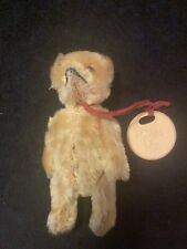 Antique/Vtg Schuco Miniature Mohair Jointed Teddy Bear Metal Eyes Don't Kiss Me
