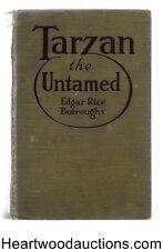 TARZAN the UNTAMED by Edgar Rice Burroughs 1st ed J. Allen St. John Art
