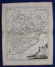 Original antique county map RUTLANDSHIRE, 'RUTLAND', J.Ellis, c.1765