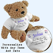 Personalised Page Boy Teddy Bear - Add Any Name / Date - Wedding Gift