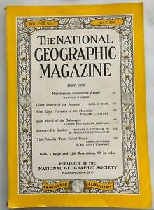 NATIONAL GEOGRAPHIC NORMANDY AMAZON INSECTS COLOR STARS GALAPAGOS MAY 1959