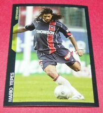 90 MARIO YEPES PARIS SAINT-GERMAIN PSG PANINI FOOTBALL SUPER FOOT 2005 2006