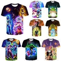 Fashion 3D T Shirt Dragonball Z Goku Broly Vegeta Short Sleeve T-Shirt Men Women