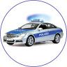 Polizei blau Polizist Mercedes Eßbar Tortenaufleger NEU Party Deko Geburtstag