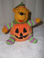 Disney Winnie The Pooh Halloween Pumpkin Plush Doll