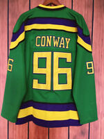 Mighty Ducks Movie Jersey #96 Charlie Conway Hockey Jersey  Green S-3XL