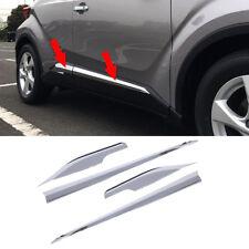 fit 2016-2018 Toyota C-HR CHR Chrome Body Side Door Molding Cover Trim Garnish