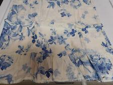 RALPH LAUREN-ELSA BLUE-PAIR KING PILLOWCASES-RUFFLED SOFT BLUE & WHITE-SATEEN