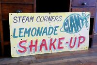 Vintage Lemonade Shake Up Carnival Fair Sign Hand Painted Wood Sign Old circus