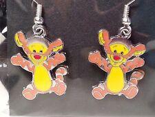 "Orange & Yellow ""Winnie The Pooh's"" Tigger Hook Earrings - Fashion Jewelry"