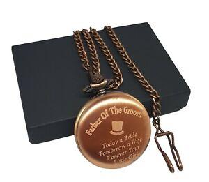 Personalised Engraved Pocket Watch, Custom Christmas Anniversary Wedding Gift,