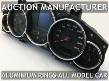 Porsche Cayenne 02-10 Chrome Cluster Gauge Dashboard Rings Speedo Trim 6psc