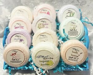 Bath Bombs Fizzy All Natural 1.3 OZ Organic Assorted Gift Set Essential oils