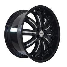 4 GWG Wheels 20 inch Black Chrome NARSIS Rims fits LEXUS IS 350 AWD 2006 - 2013
