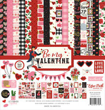 "New Echo Park 12"" x 12"" Paper Collection Kit Be My Valentine"