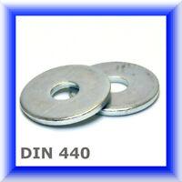 Unterlegscheiben DIN 440, breiter Rand verzinkt M5 - M24, U-Scheiben