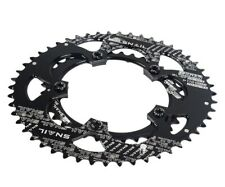 Road XC Bike Double oval Chain Ring 35 50T 9-11 speed 110mm BCD Chainring Black