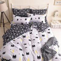 Black And White Batman Mask Bedding Set Duvet Cover+Sheet+Pillow Case Four-Piece