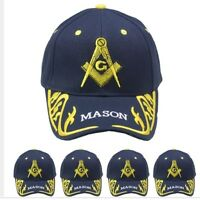Blue and Gold Mason Freemason Masonic Lodge Ball Cap Hat MEN WOMEN VALENTINES GI