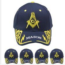 Blue Gold Mason Hat Masons Freemason Masonic Lodge Ball Cap MEN WOMEN VALENTINES