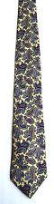 Men's New Silk Neck Tie, Multi-color blue red paisley design by Neil Martin