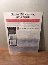 1996 Chrysler CNG Vehicles Brochure