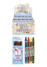 4 x unicorn wax crayons Pinata Toy Party Bag Stocking Filler-set of 4
