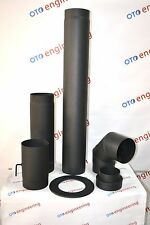 High-Quality Stove Flue Pipe (150mm) System Rigid Black Mat Kit 1.8 mm Thickness