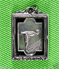 Vintg Carlton Swimming Medal/Deco /Black Enamel on Ster. Silver/Josten Mfg/Case
