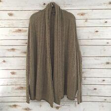 Vince Women's Brown Yak Wool Blend Open Front Cardigan Sweater Size XS