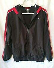 Athletech Jacket Black and Red Hooded Size XL (14/16)