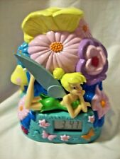 Tinker Bell LED Projection Digital Battery Operated Alarm Clock Fairy Disney