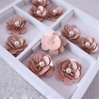 Sequins Beaded Flower Blossom Applique For Corsage ,DIY Craft Project 5 Pc
