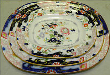 Three Ironstone oval platters Pre-Owned