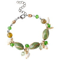 Fashion Bracelet Multi Colored Gravel Handmade Beaded Bracelet Jewelry Green ZC
