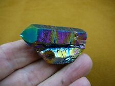 (R1-85) iridescent Aurora Crystal quartz titanium GEM gemstone Aura specimen