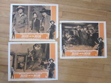 BLOOD ON THE MOON 3 rerelease 1957  lobby cards western Robert Mitchum
