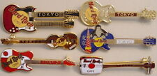 Hard Rock Cafe TOKYO 1990s Guitar 6 PIN LOT Collection Les Paul Kamikaze Samisen