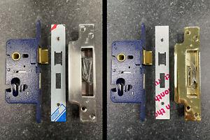 54-12 Gridlock Heavy duty euro mortice sash lock, 65mm backset