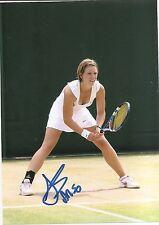 An-Sophie Mestach Tennis 5x7 PHOTO Signed Auto