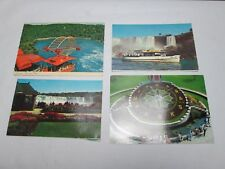 Set of 4 Niagra Falls Ontario Post Cards Vintage Maid of the Mist Niagra Parks