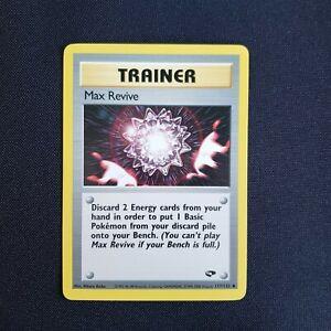 Pokemon Trainer Max Revive 117/132 Gym Challenge Set Uncommon WotC Near Mint