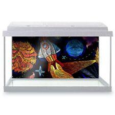 Fish Tank Background 90x45cm - Cool Rocket Stars Planets Space Kids  #8819