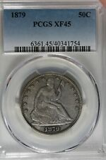 1879 50C PCGS  XF 45  Seated Liberty Half Dollar
