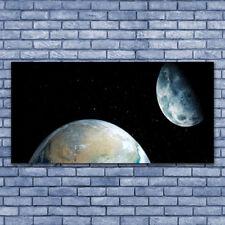 Acrylglasbilder Wandbilder Druck 140x70 Mond Erde Weltall Weltall