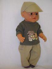 Für Baby Born Junge Boy u. Girl Puppe 43 cm, Kleidung Puppenkleidung 4-tlg.
